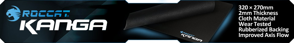 ROCCAT Kanga Choice Cloth Gaming Mousepad, 320x270x2mm, Black (ROC-13-010)
