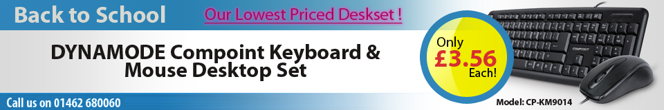 DYNAMODE Compoint KM9014 Multimedia Wired USB Full-size Keyboard & Optical Mouse Desktop Duo Set, Black (CP-KM9014)