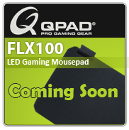 QPAD FLX100 LED Illuminated Gaming Mousepad, Black, 370 x 270 x 3 mm (FLX100)