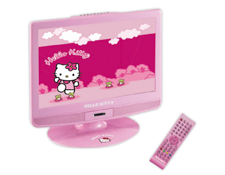 Hello Kitty 19 Inch Customized Tv Lcd With Built In Dvd Player