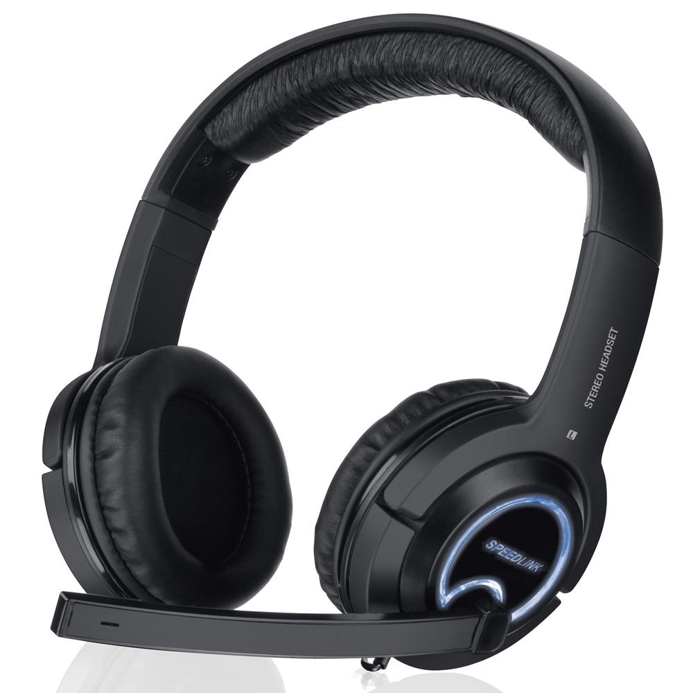 SPEEDLINK Xanthos Stereo Universal Gaming Headset with Fold-away Microphone, Black (SL-4475-BK)