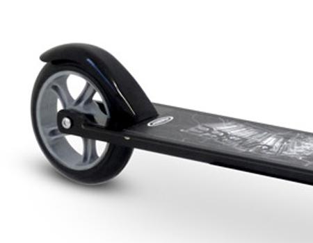 FUNBEE Street One 2 Wheel Scooter with Adjustable Height & Rear Brake, Black (OFUN09)
