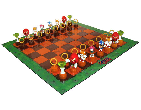 Sonic The Hedgehog Collectible 3d Chess Set Ge0250