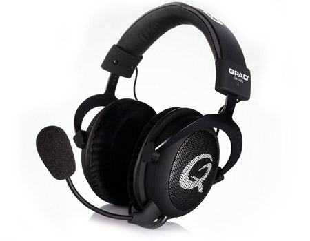QPAD QH-85 Pro Gaming Headset with Open Ear Cups Design, Black (3303)