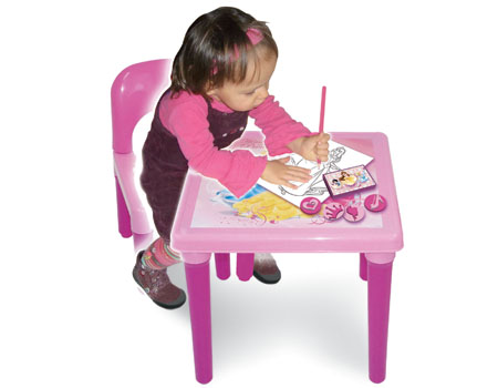disney princess my first activity table and chair set with colouring