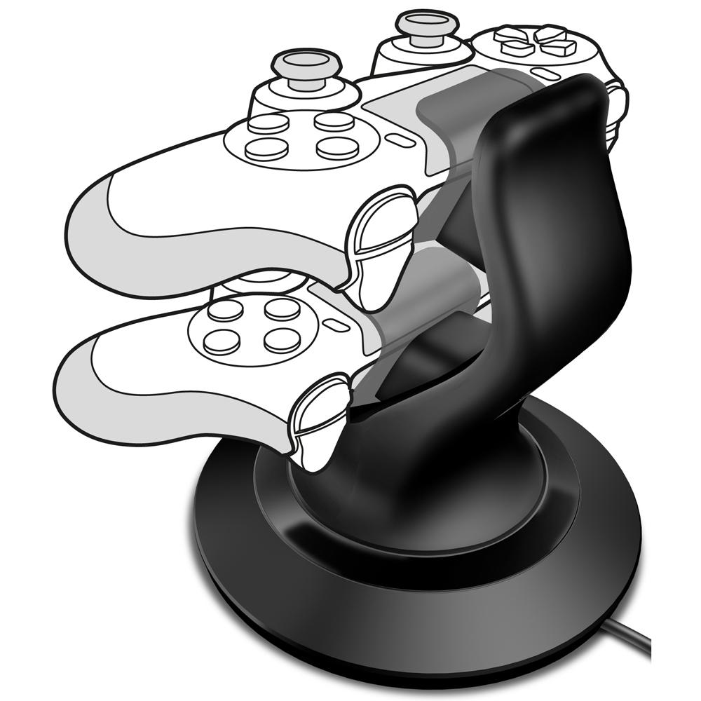 SPEEDLINK TwinDock Charging System for PS4, Black (SL-4511-BK)