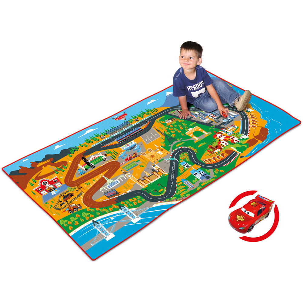 DISNEY Cars Kids Large Printed Racetrack Carpet With