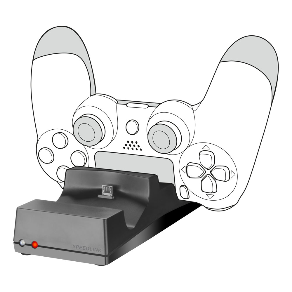 SPEEDLINK Jazz USB Charger For PlayStation 4, Black (SL-450000-BK)