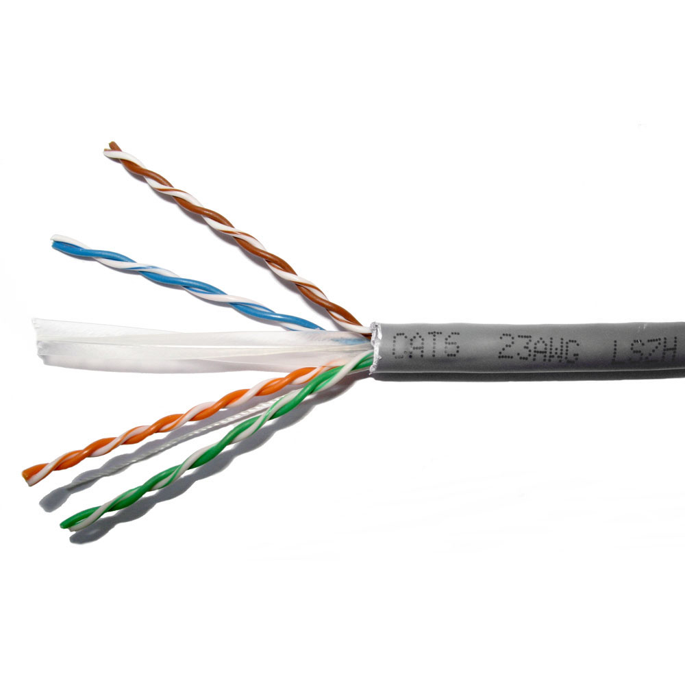 Lms Data Cat6 Low Smoke Full Copper Utp Unshielded Twisted 4 Pair Electrical Wire Bare Solid And Network Cable Awg23