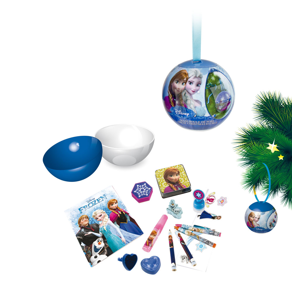 DISNEY Frozen Large Christmas Tree Bauble with Creative Accessories ...