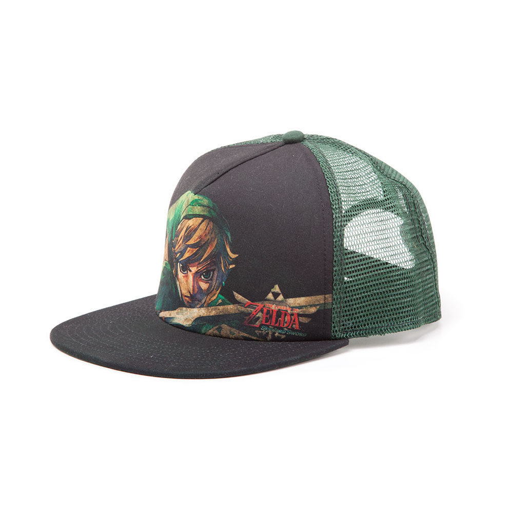 deb3327e9073e ... Black NINTENDO Legend of Zelda Link Close-up Trucker Baseball Cap