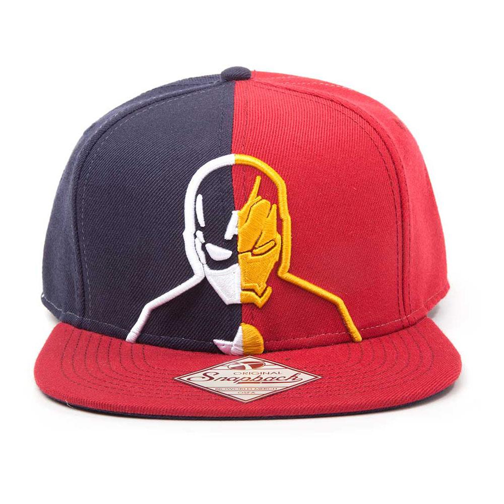 bd3b76128f555 MARVEL COMICS Captain America  Civil War Captain America vs. Iron Man  Silhouette Snapback Baseball