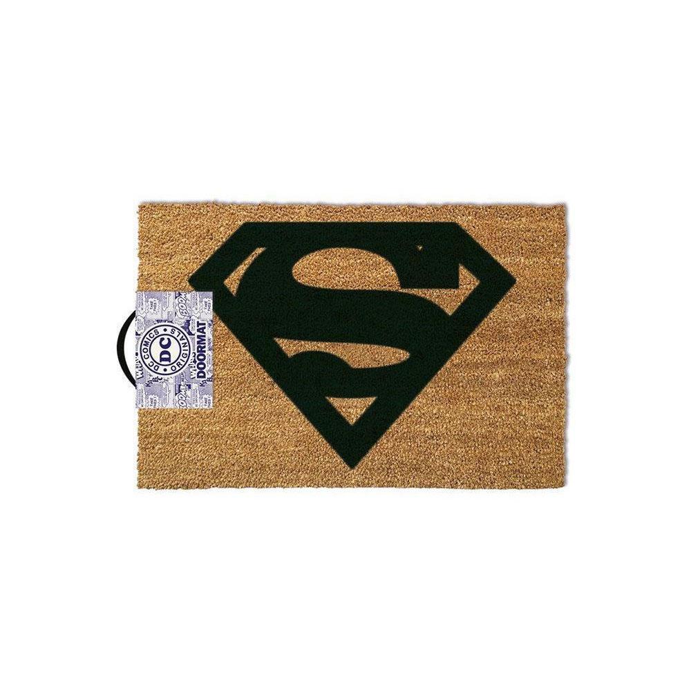 DC COMICS Superman Logo Door Mat, Tan (GP85023)