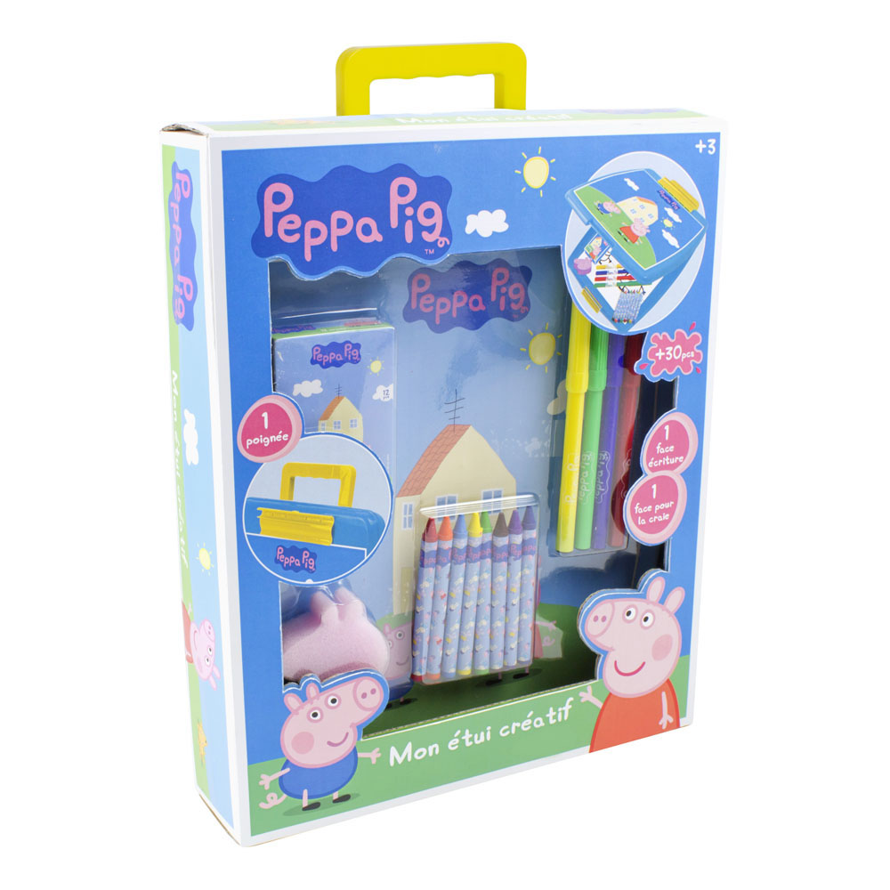 PEPPA PIG My Creative Case with 30pc Creative Accessories Kit, Blue (CPEP015)