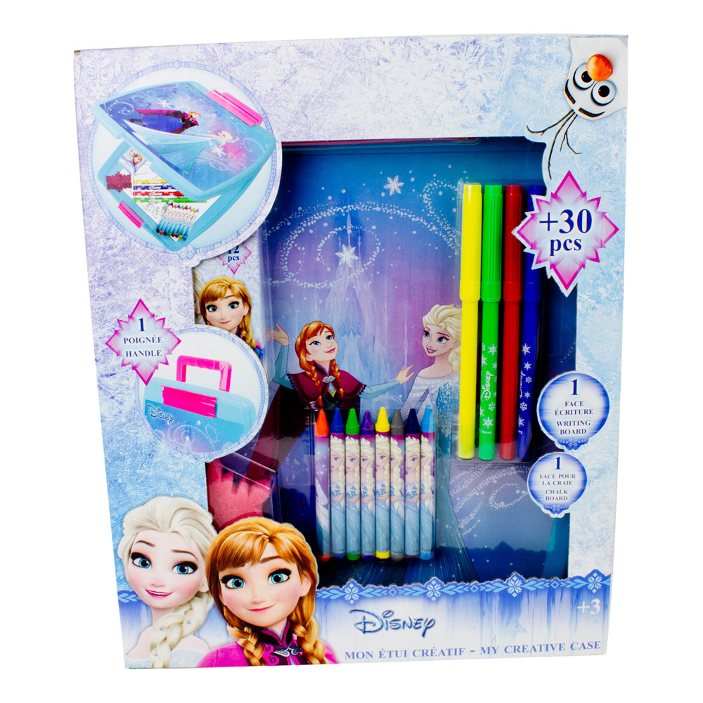 DISNEY Frozen My Creative Case with 30pc Creative Accessories Kit, Blue (CFRO015)