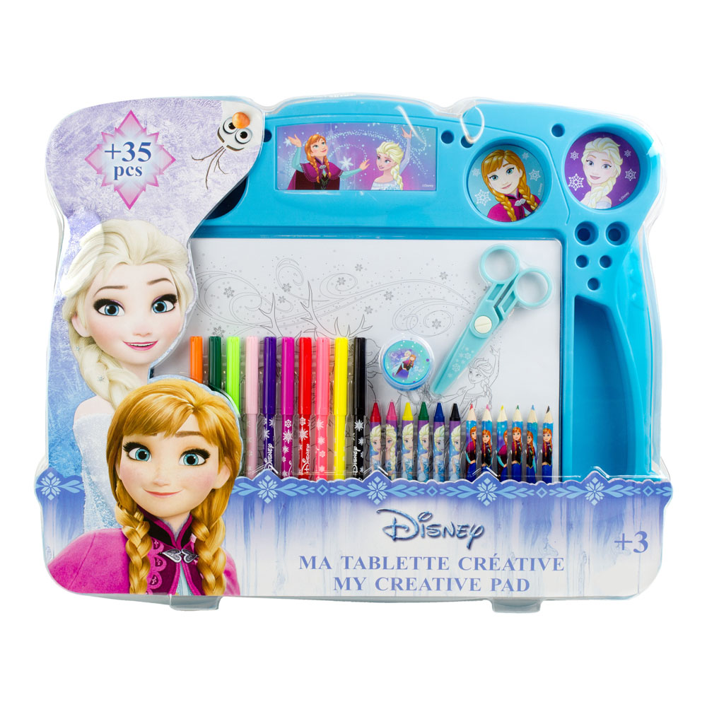 DISNEY Frozen My Creative Pad with 34pc Creative Accessories Kit (CFRO110)