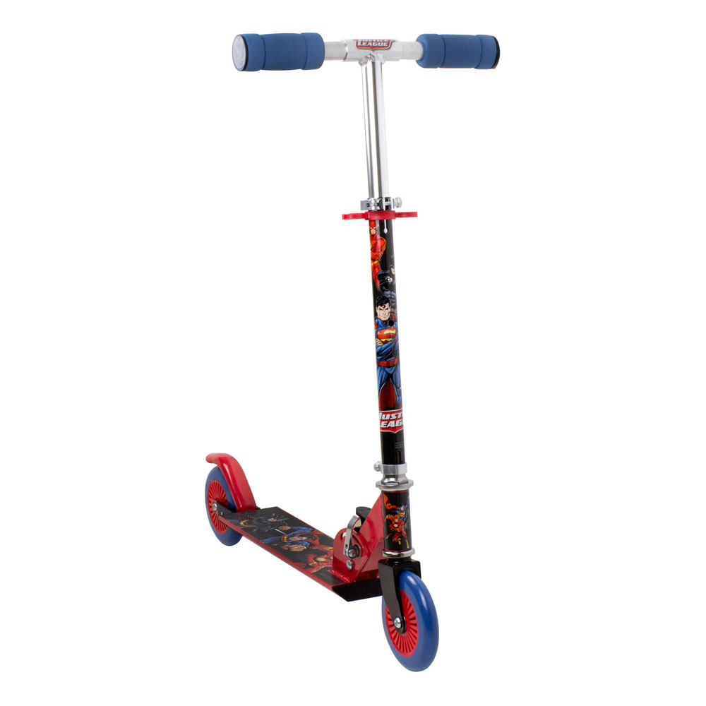 DC COMICS Justice League 2 Wheel Inline Scooter with Adjustable Handlebar (ODCC112JL)