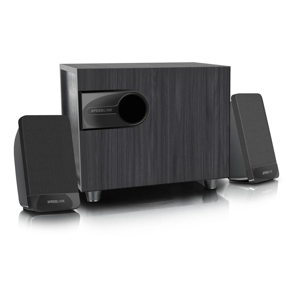 SPEEDLINK Libitone Compact 2.1 Subwoofer Speaker System, Black (SL-820007-BK)