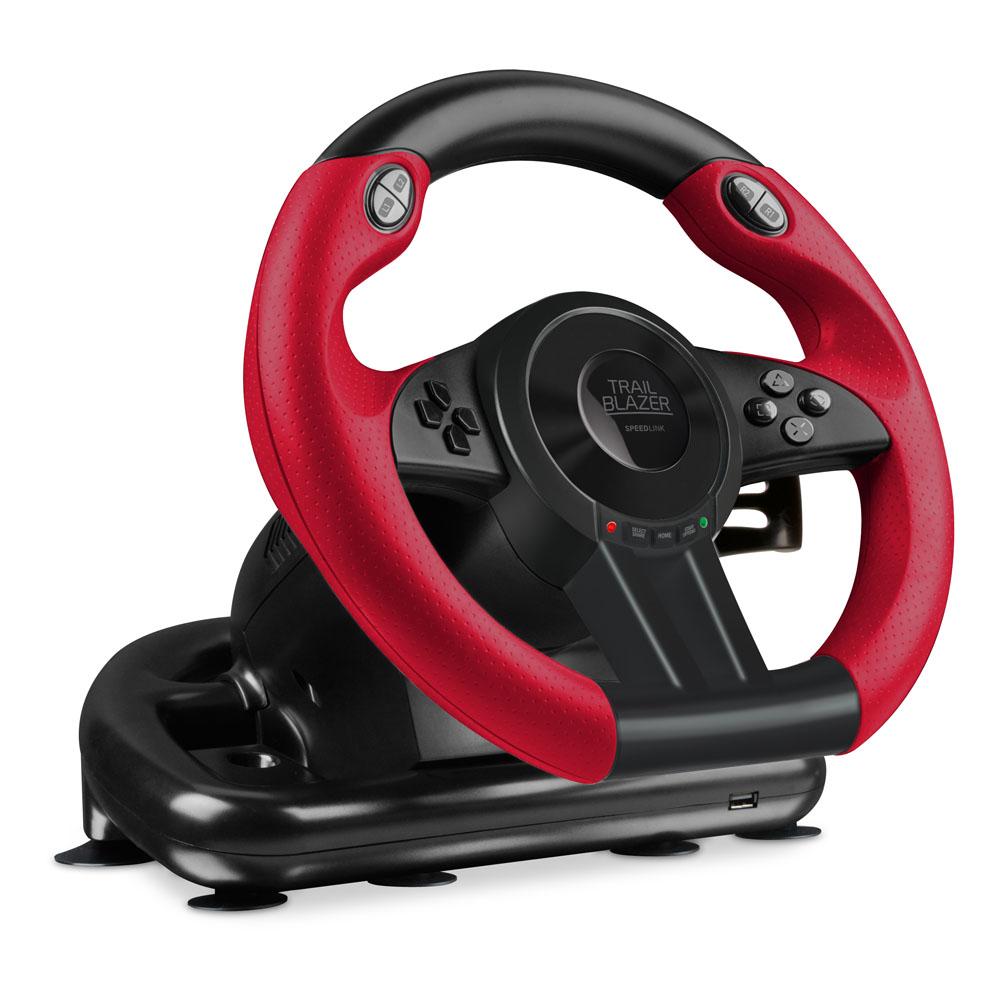 speedlink trailblazer vibration effect racing wheel with. Black Bedroom Furniture Sets. Home Design Ideas
