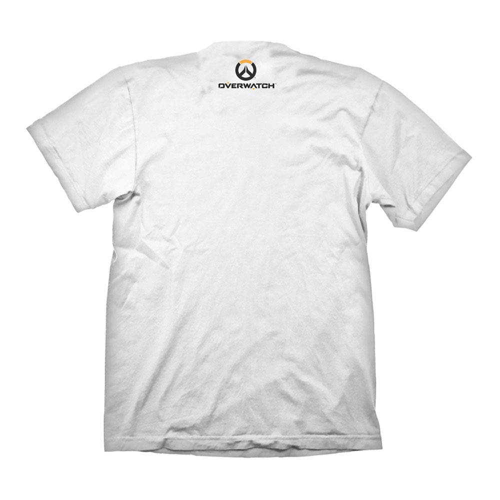 Overwatch men 39 s mercy emblem logo t shirt extra large for Extra tall white t shirts
