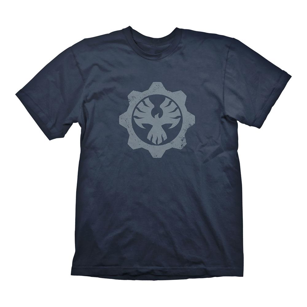Gears Of War 4 Mens Phoenix Omen Symbol T Shirt Extra Large Navy