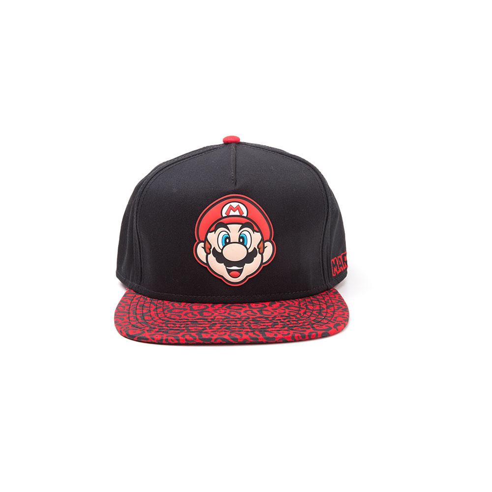 27469975313 NINTENDO Super Mario Bros. Mario Face Rubber Patch Snapback Baseball ...