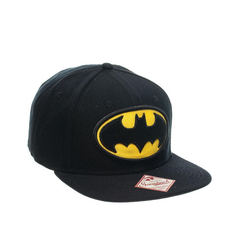 dc comics batman logo snapback baseball cap black