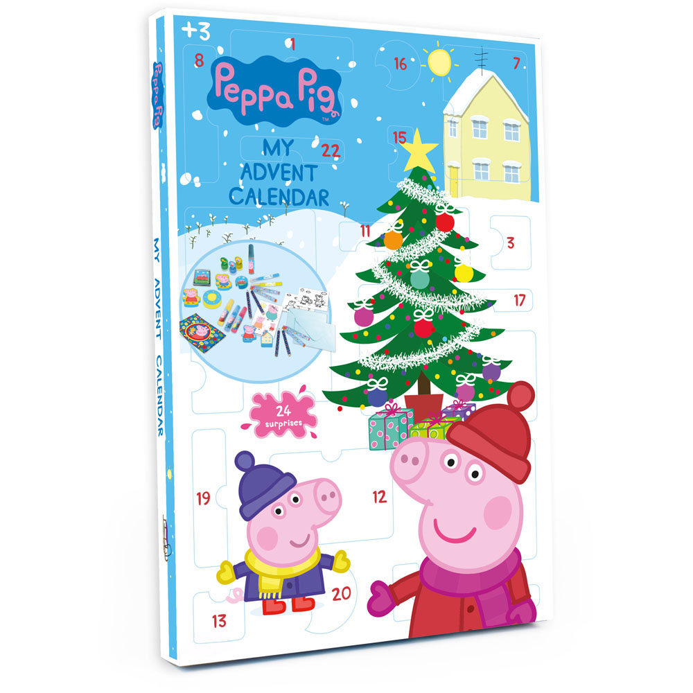 peppa pig christmas advent calendar with 24 surprises cpep086