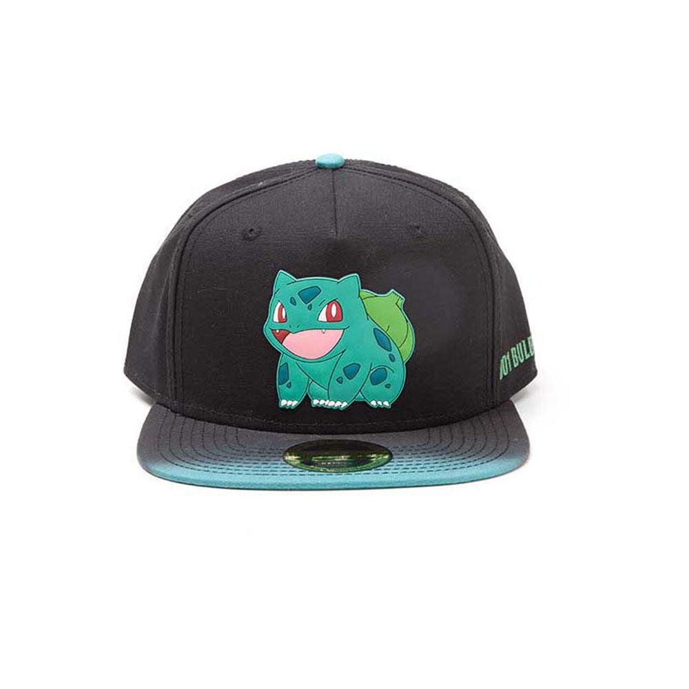 8b65d028053 POKEMON Bulbasaur Rubber Patch Snapback Baseball Cap with Dip Dye Brim