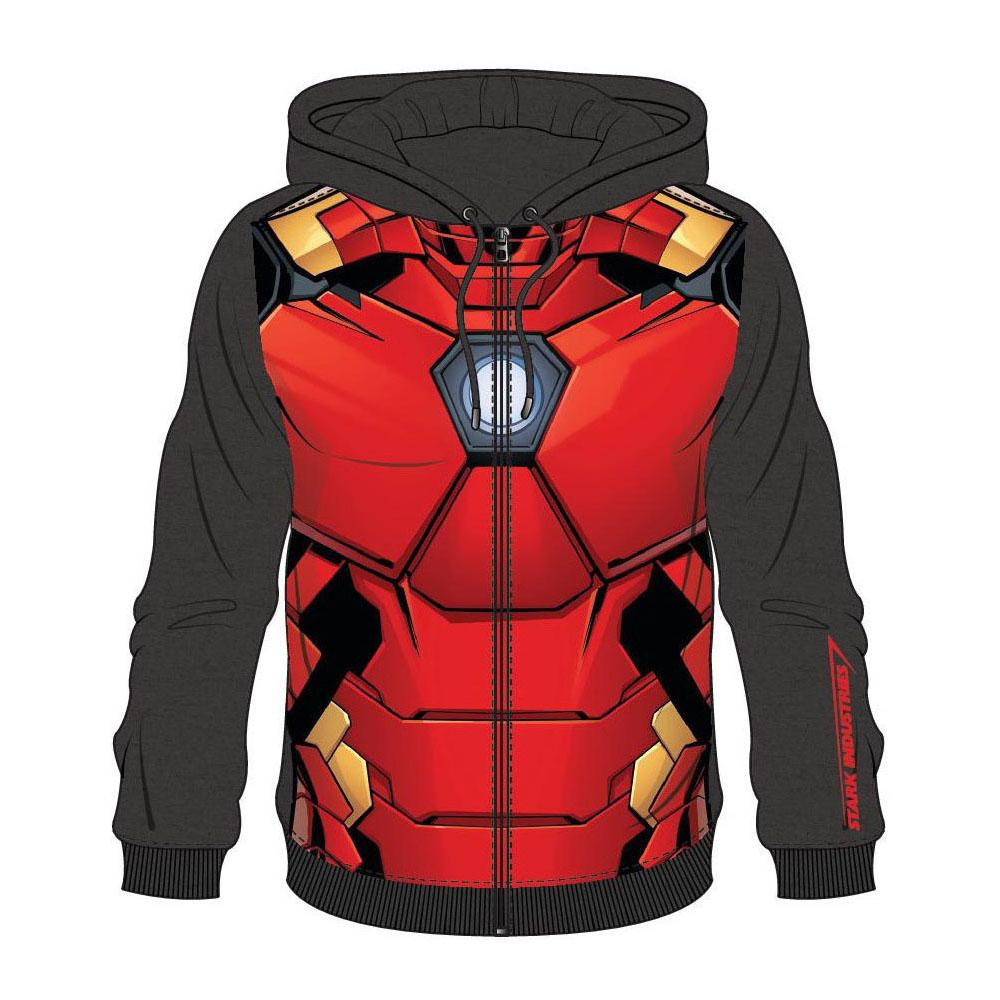 aae04db2d16 MARVEL COMICS Iron Man Men s Sublimation Full Length Zipper Hoodie ...