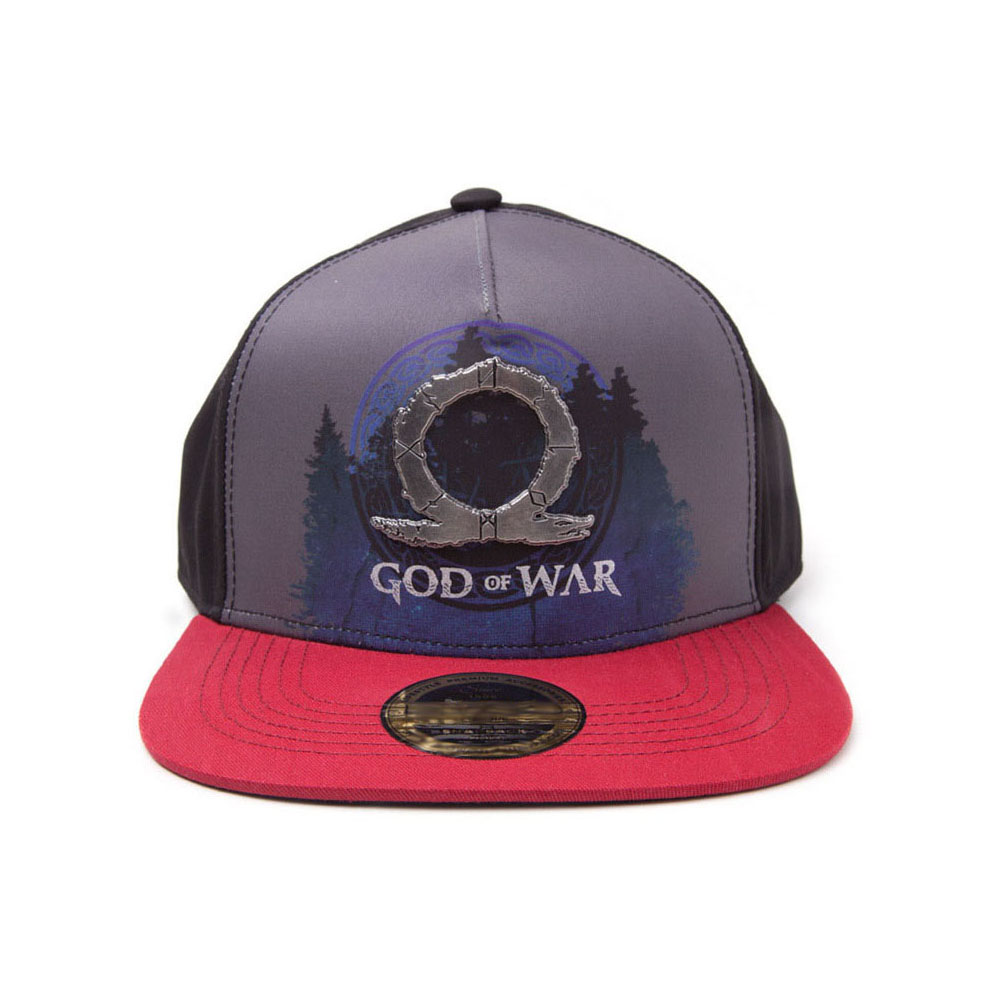 e4f43a7f755 GOD OF WAR Logo Metal Badge Sublimation Print Snapback Baseball Cap ...
