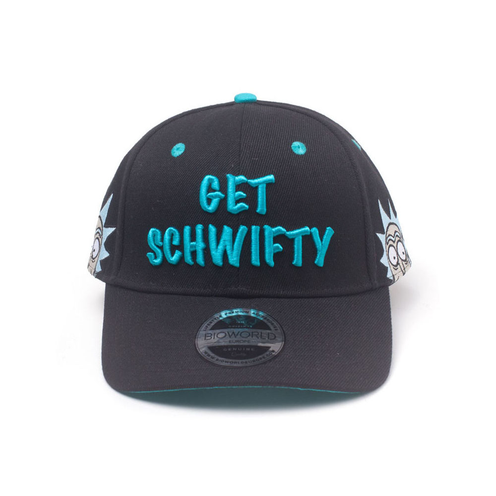 RICK AND MORTY Embroidered Get Schwifty Curved Bill Cap 80878bfad5b5