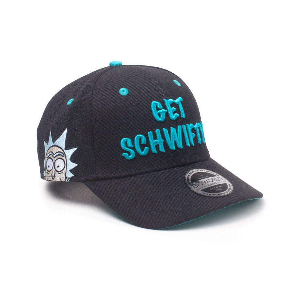 ... RICK AND MORTY Embroidered Get Schwifty Curved Bill Cap 58315bd7b2c5