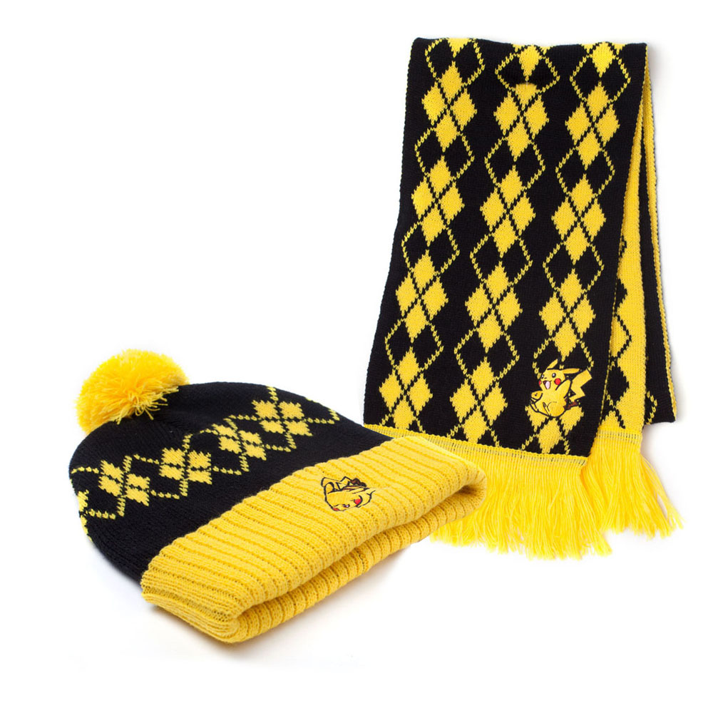 51d0d2a473f POKEMON Pikachu Beanie and Scarf Gift Set