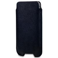 SOX Retro Light Leather/Suede Mobile Phone Pouch for iPhone/Samsung and more, Large, Black (SOX KRETR 01L)