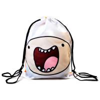ADVENTURE TIME Finn and Jake Double Sided Design Drawstring Bag (CI0FJNADV)