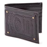 JACK DANIEL'S Bi-fold Leather Patch Wallet with Engraved Classic Logo, Male, Black (LW190215JDS)