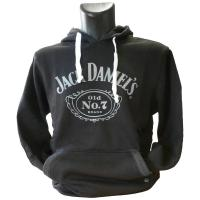 JACK DANIEL'S Classic Old No. 7 Brand Logo Hoodie, Male, Extra Large, Black (HD030080JDS-XL)
