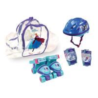 DISNEY Frozen Quad Skates with Protection Set and Transparent Carry Bag (24 - 29) (OFRO002)