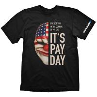 PAYDAY 2 Men's Dallas Mask Extra Large T-Shirt, Black (GE1727XL)