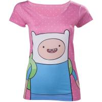 ADVENTURE TIME Finn with Dots T-Shirt, Female, Extra Large, Pink (TS160107ADV-XL)