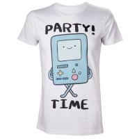 ADVENTURE TIME Beemo Party Time! T-Shirt, Male, Medium, White (TS280003ADV-M)