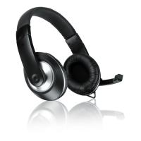 SPEEDLINK Thebe CS Stereo PC Headset with Microphone, Black/Silver (SL-8727-BK-01)