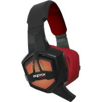 APPROX APPGH10 Stereo Illuminated Foldable Gaming Headset with Microphone, Black/Red (APPGH10)