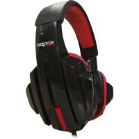 APPROX APPSKULL Stereo Gaming Headset with Microphone, Black/Red (APPSKULL