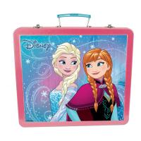 DISNEY Frozen Art Tin Case with 60pc Creative Accessories Kit, Pink/Turquoise (CFRO132)