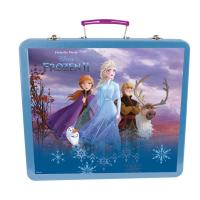DISNEY Frozen II Children's Art Tin Case with 61pc Creative Accessories Kit, Three Years and Above, Unisex, Turquoise (CFRO132)