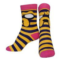 ADVENTURE TIME Jake with Striped Pattern Crew Socks, Female, 38/41, Multi-Colour (CR220108ADV-38)