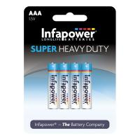 INFAPOWER AAA Super Heavy Duty Batteries, 4 Pack (B751)
