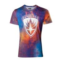 MARVEL COMICS Guardians of the Galaxy Vol. 2 All-over Galaxy T-Shirt, Male, Large, Multi-colour (TS571037GOG-L)